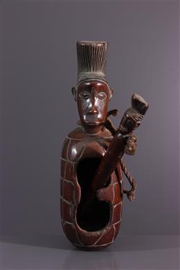 Art africain - Tambour à fente anthropomorphe Mangbetu