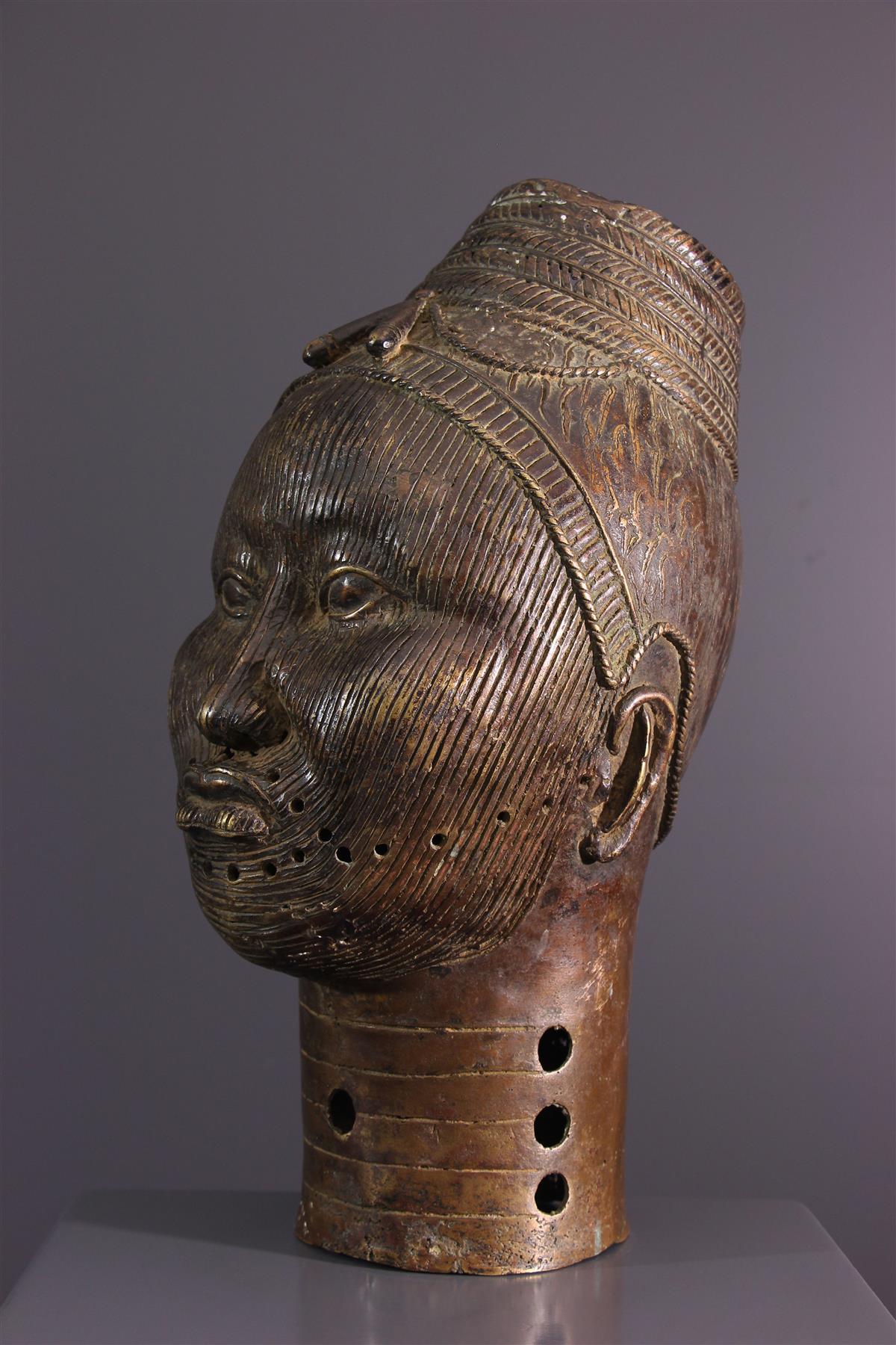 Tête bronze - Art africain