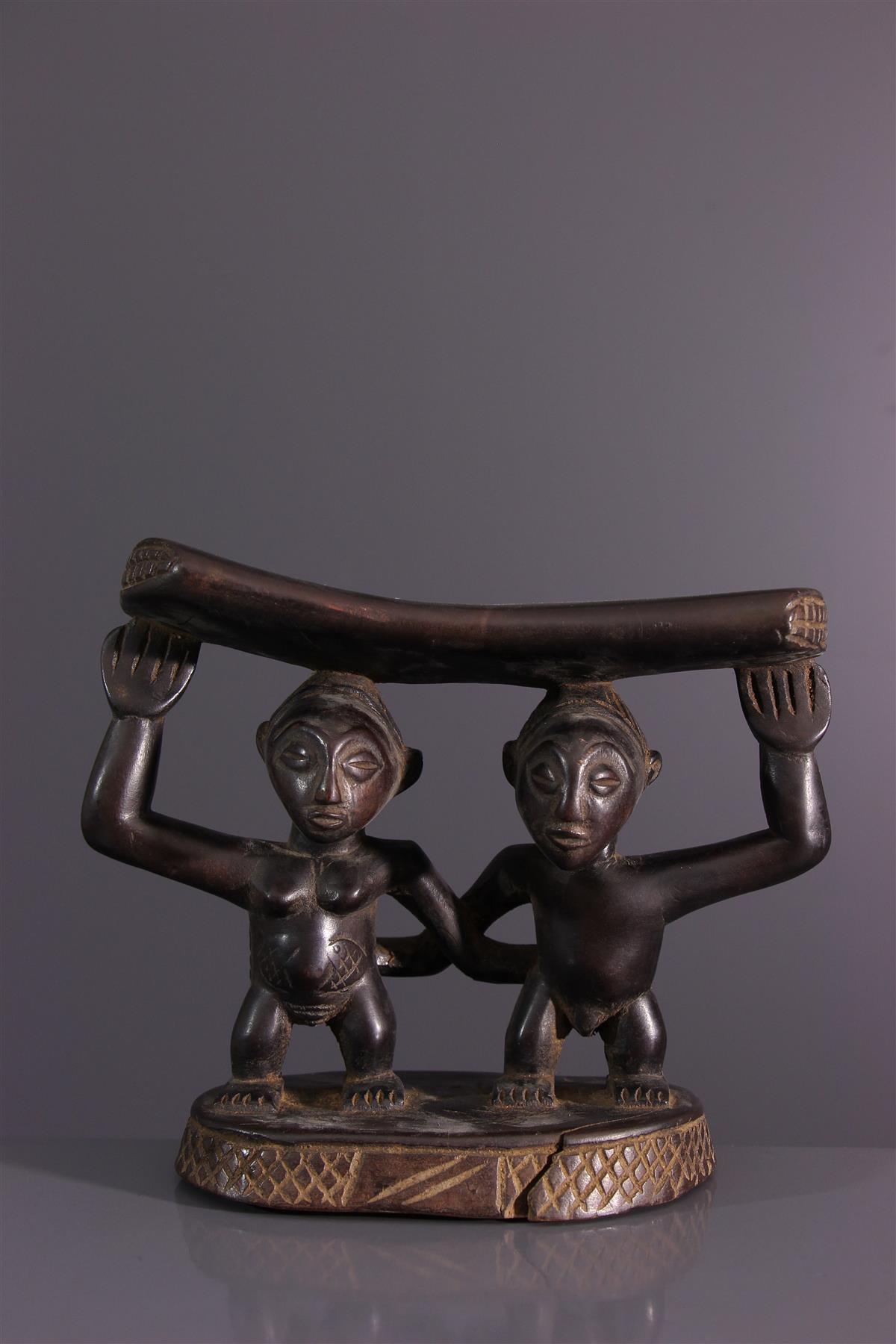 Appui-nuque Luba - Art africain
