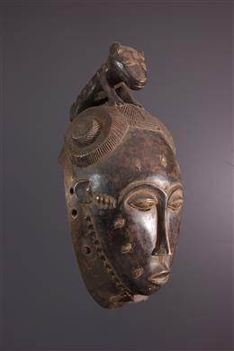 Art africain - Masque Baoulé Ndoma