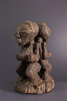 Art africain - Statuette fétiche janiforme Songye