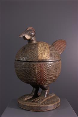 Art africain - Coupe à offrandes zoomorphe Yoruba