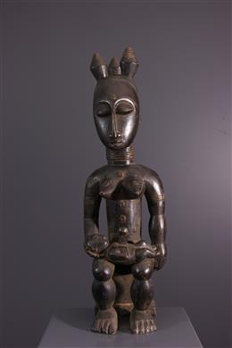 Art africain - Figure féminine Nkpasopi Akye ou Abe