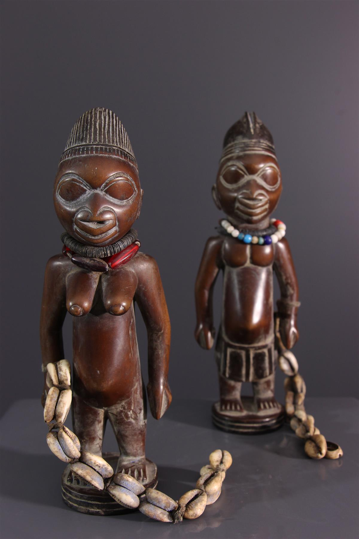 Couple Ibedji - Art africain
