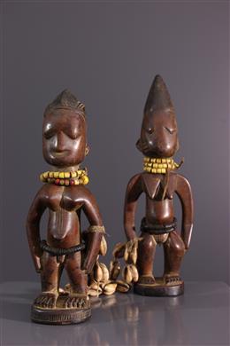 Couple de jumeaux Ibedji Yoruba