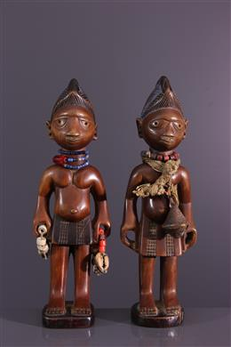 Art africain - Paire de jumeaux Ibedji Yoruba