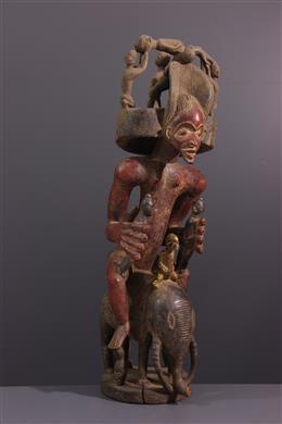 Art africain - Figure dautel Chokwe