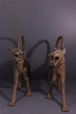Couple de léopards Bénin