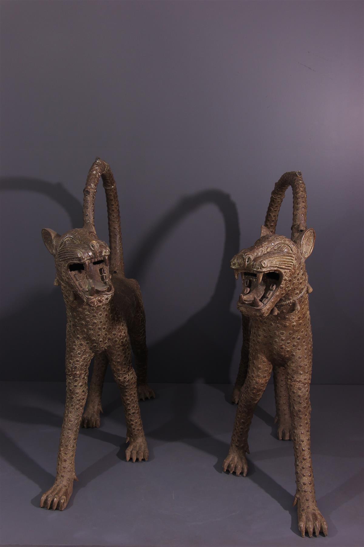 Léopards Bénin - Art africain