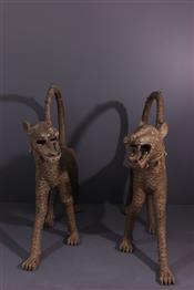 bronze africainLéopards Bénin