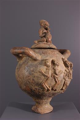 Art africain - Jarre rituelle Mangbetu