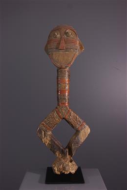 Art africain - Figure de reliquaire Mashango Bumba
