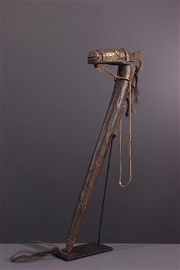 Canne à tête de cheval Bamana du Koré