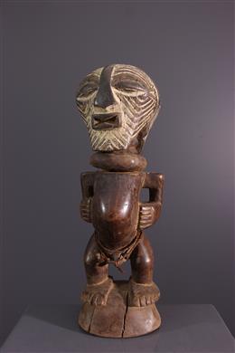 Statuette fétiche janiforme Songye