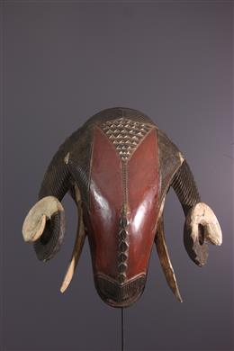 Grand masque Baoulé bélier