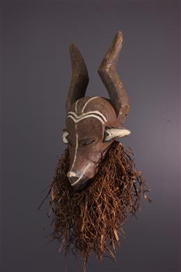 Art africain - Masque zoomorphe Mbuya jya mafuzo Pende