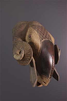 Grand masque Baule bélier