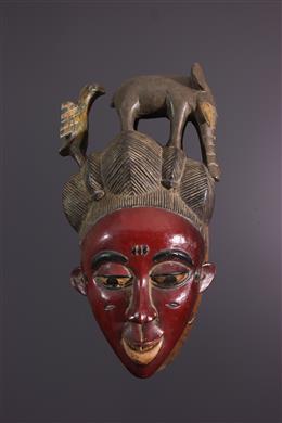 Art africain - Masque Gouro Gu de la danse Zaouli