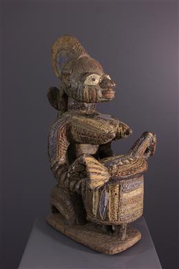 Art africain - Porteuse de coupe Olumèye Yoruba