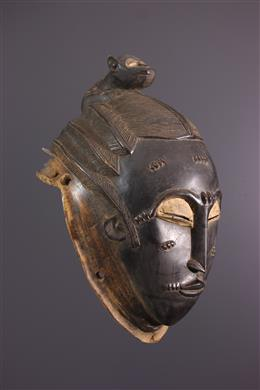 Art africain - Masque casque Baule Ndoma