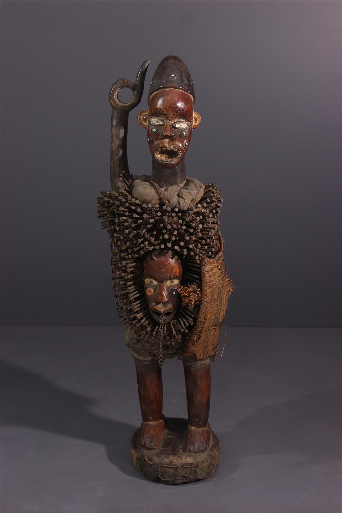 Statue Nkonde - Art africain