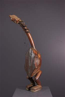 Art africain - Harpe anthropomorphe Fang