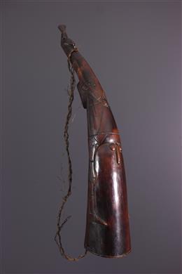 Trompe de chasse Mangbetu/ Nzakara anthropomorphe