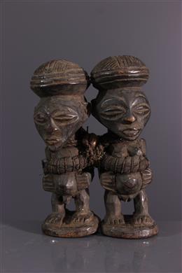 Couple de statuettes Songye Nkisi