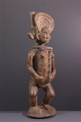 Art africain - Grand pot anthropomorphe Chokwe