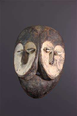 Masque biface Kwele Ekuk