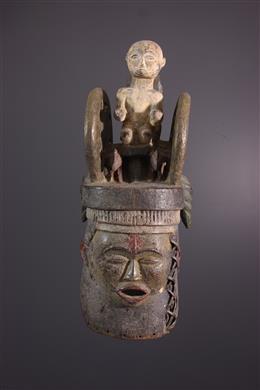 Art africain - Masque heaume Igbo/Ibibio