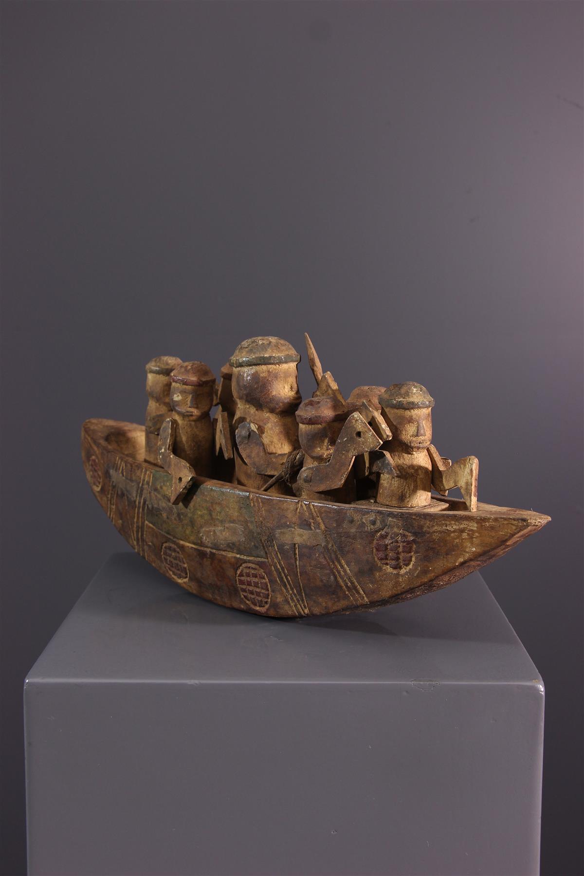 Pirogue Kongo - Art africain