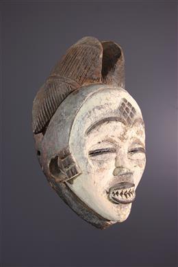 Art africain - Masque Punu de la danse Okuyi