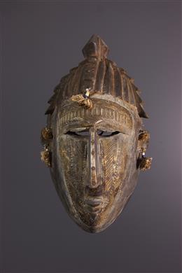 Art africain - Masque facial Markha, Warka