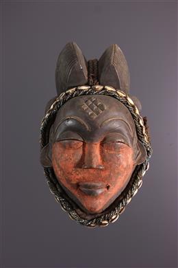 Art africain - Masque heaume Punu Okuyi