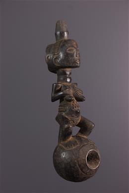 Art africain - Pipe à eau dapparat Luba