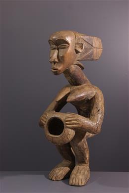 Art africain - Statue Luba porteuse de coupe