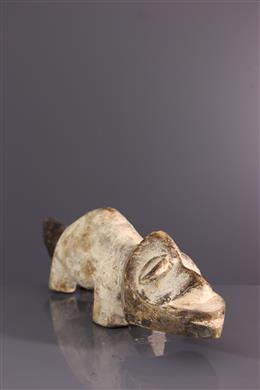 Figure zoomorphe Lega du Bwami