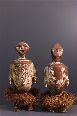 Couple de statues reliquaires Ambete, Mbete