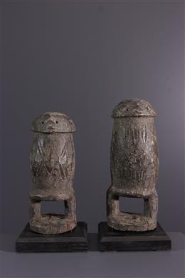 Couple de fétiches Losso / Lamba  du Togo