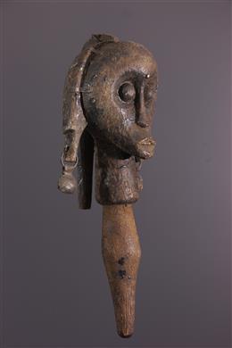 Art africain - Tête de reliquaire Betsi Nlo Angokh