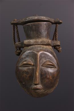 Art africain - Grand récipient à couvercle Luba