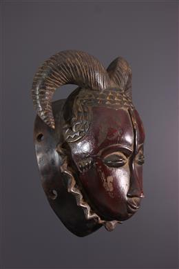 Masque Baule Ndoma à cornes