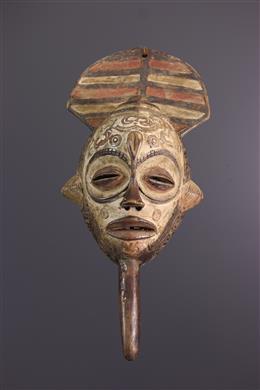 Masque Bena Lulua polychrome