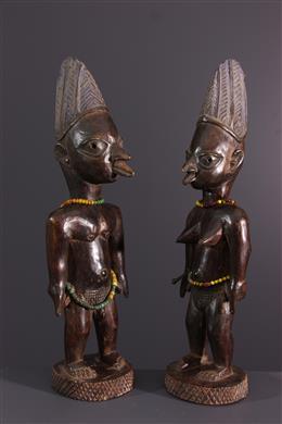 Couple de statuettes ibedji Yoruba