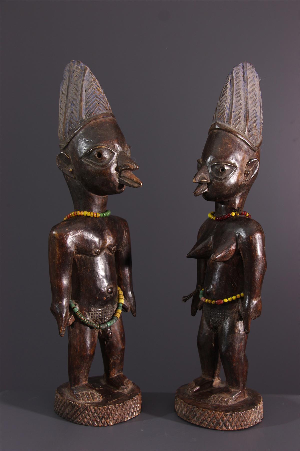 Couple Ibeji - Art africain