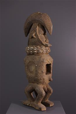 Statue Teke janiforme Mpwau