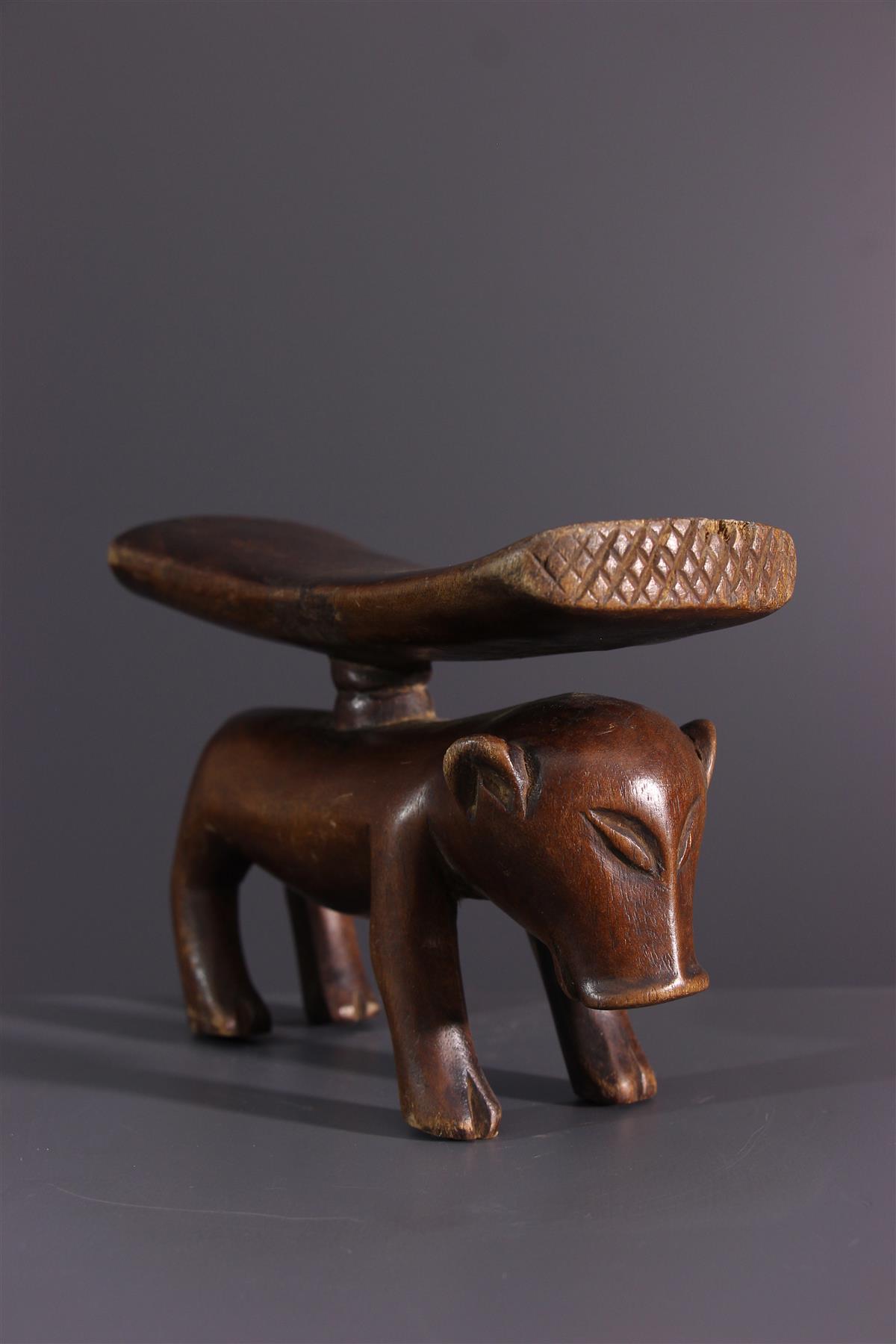 Appuie-nuque Tschokwe - Art africain