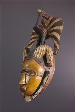 Art africain - Masque Yaoure, Yohoure, Lomane