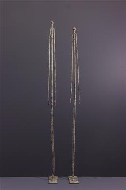 Figures d ancêtres Dogon en bronze
